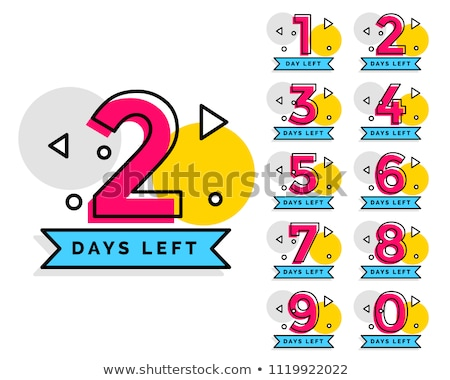 Stock fotó: One Two Three Four - Vector Badges With Numbers