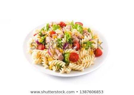 Friss tészta saláta vacsora ebéd zöldség Stock fotó © M-studio