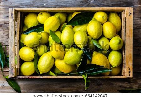 Cytryny świeże sklep spożywczy owoców rynku Zdjęcia stock © sirylok