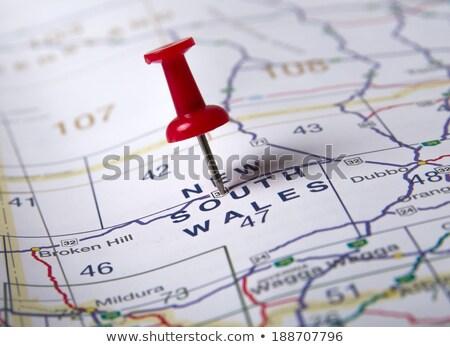 Nueva gales del sur mapa verde papel edad aislado Foto stock © speedfighter