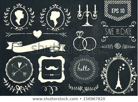 Stok fotoğraf: Erkekler · kadın · semboller · tahta · doku