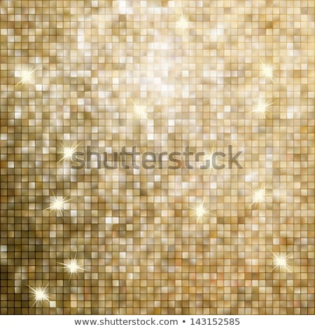 Gold mosaic background. EPS 8 Stock photo © beholdereye