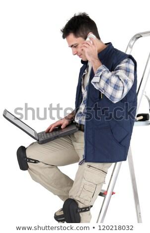 laptop · telefoon · computer · bouw · technologie · achtergrond - stockfoto © photography33