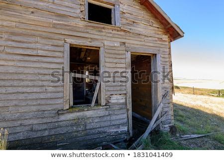 Verlaten cabine huis home hout structuur Stockfoto © jeremywhat