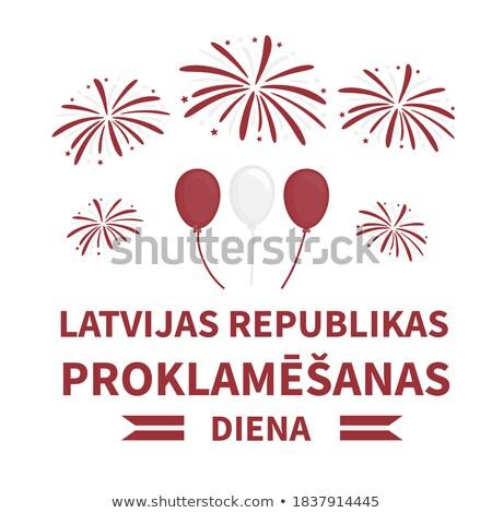 письме Латвия бумаги карта аннотация дизайна Сток-фото © perysty