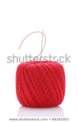 bobbin with red cotton Stock photo © compuinfoto