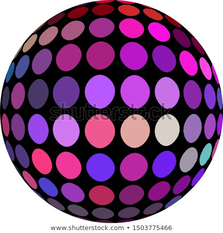 Disco ball in purple tones isolated on white Stock photo © experimental