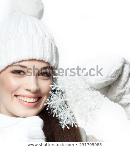 Head-shot of woman in the snow Stock photo © photography33