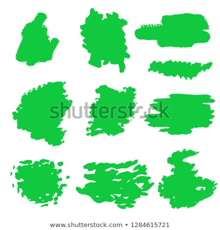 Stock photo: Paint Roller Swoosh Green