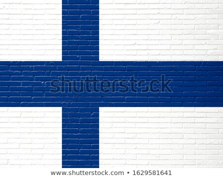 Vlag Finland muur geschilderd grunge textuur Stockfoto © creisinger