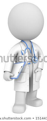 3d small people with clipboard and pencil Stock photo © AnatolyM