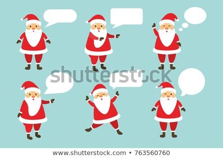 Stok fotoğraf: Red Speech Bubble With Santa Hat