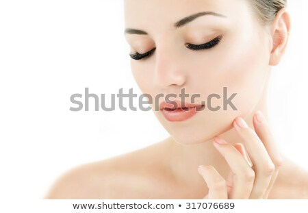 Retrato morena longo bonitinho cabelo Foto stock © carlodapino