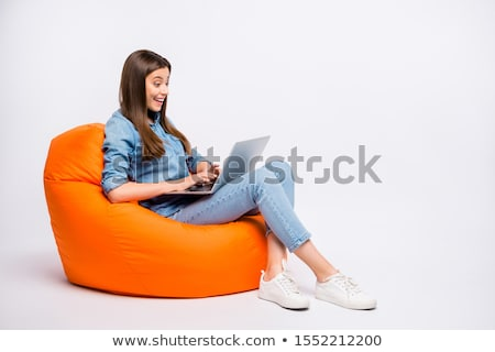 businesswoman in chair with laptop stock photo © dolgachov