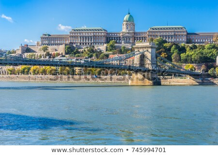 danube terrace at buda castle in budapest stock photo © rognar