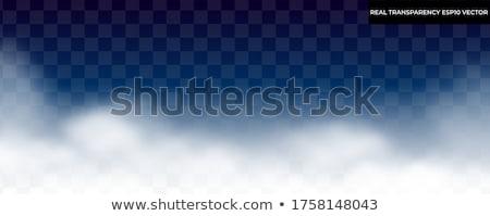 Stock fotó: Felhőkép · buja · zöld · hegyek · alacsony · akasztás