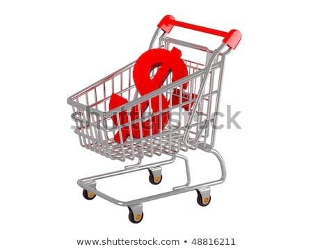 3D · bevásárlókocsi · zöld · kék · terv · vásárlás - stock fotó © iqoncept