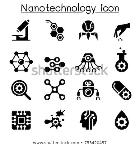 Nanotechnologia ikona sportu medycznych nauki firmy Zdjęcia stock © butenkow