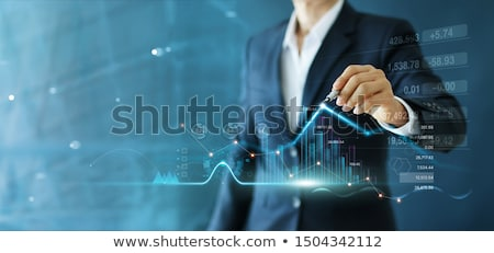рисунок графа мужчины стороны серый бизнеса Сток-фото © matteobragaglio