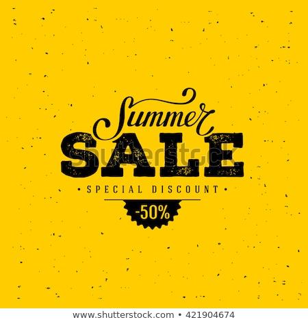 Vintage verão venda estilo retro ilustração sol Foto stock © marinini