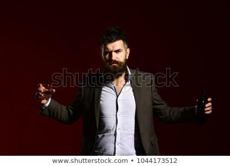 Hombre brandy traje masculina altos Foto stock © iofoto