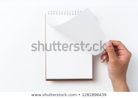 Paper folding with letter S in perspective view Stock photo © archymeder