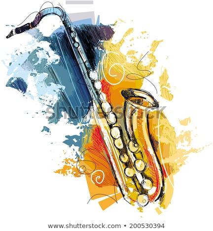coloré · vecteur · saxophone - photo stock © turtleteeth