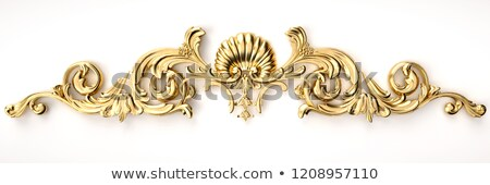 background frame with jewels golden ornament stock photo © yurkina