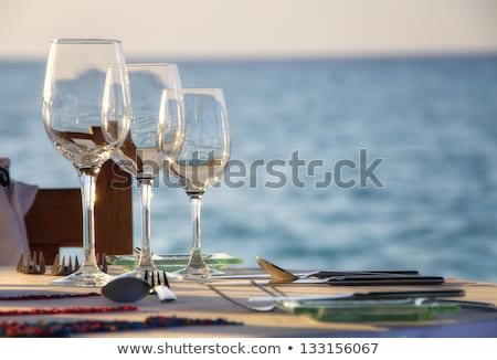 ready for romantic dinner on the beach stock photo © moses