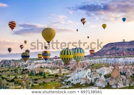 Fairy chimneys rock formations. Turkey, Cappadocia, Goreme. Stock photo © BSANI