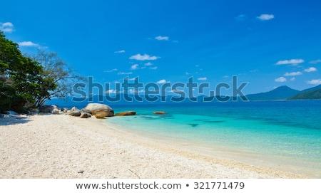 Magnetisch eiland Australië afbeelding wolken gras Stockfoto © magann