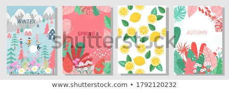 Autumn banner with leaves, vector illustration  Stock photo © carodi