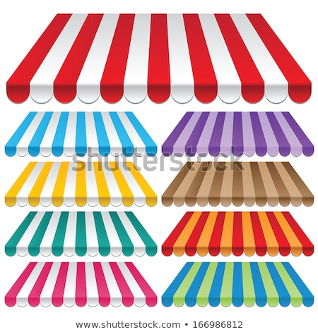 Colored awnings. Stock photo © Albachiaraa