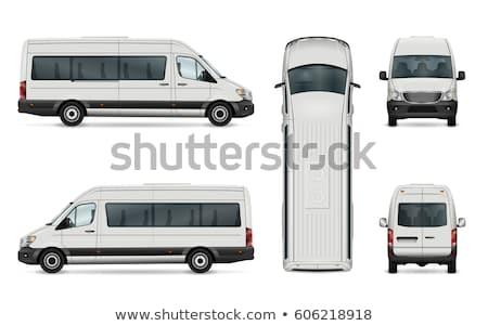 oito · cidade · treinador · carro · ônibus · branco - foto stock © mechanik