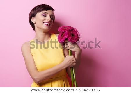 Duygu kırılgan bugün iş kadını yukarı bant Stok fotoğraf © jayfish