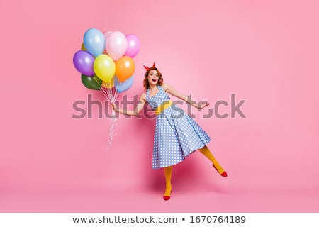 A photo of beautiful girl is in style of pinup, glamour stock photo © pandorabox