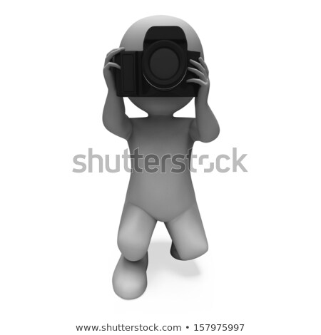 photography character shows taking a photo dslr and photograph stock photo © stuartmiles