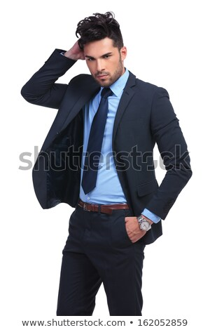 business man passing his hand through his hair Stock photo © feedough