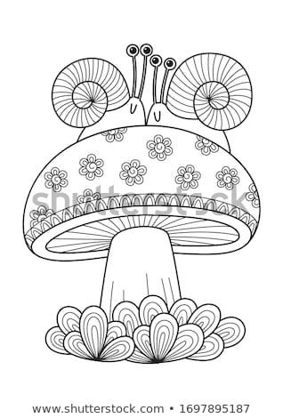 bruin · champignon · najaar · outdoor · macro - stockfoto © elenarts