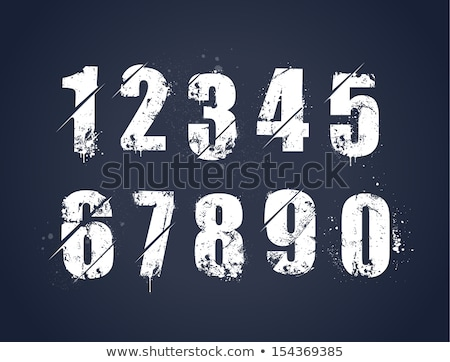 Grunge numbers Stock photo © Stocksnapper