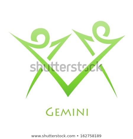 Simplistic Gemini Zodiac Star Sign Stock photo © cidepix