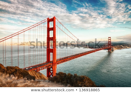 golden gate bridge steel cable stock photo © weltreisendertj