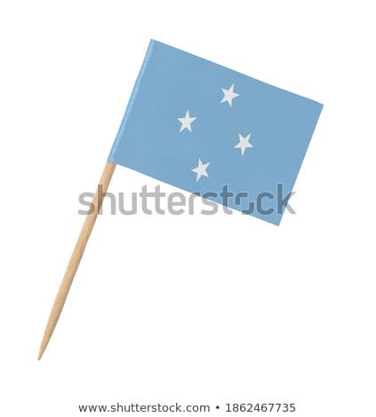 Miniatura bandeira Micronésia isolado bandeira Foto stock © bosphorus