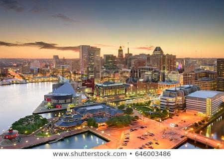 Haven skyline stad centrum jacht Stockfoto © sframe