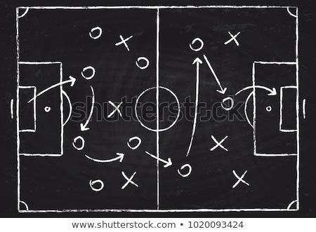 Voetbal tactiek vector sport voetbal veld Stockfoto © burakowski