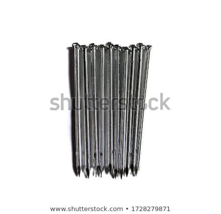 гальванизированный ногтя изолированный белый промышленности промышленных Сток-фото © nemalo