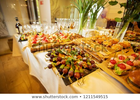 lot of drinks on a buffet table stock photo © tepic
