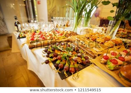 catering · casamento · aquecedor · bufê · linha · comida - foto stock © tepic