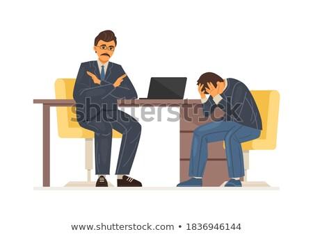 Nyomasztó állás lehangolt fáradt irodai dolgozó asztal Stock fotó © stokkete