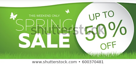 Sale Banner With Grass Stock photo © cammep